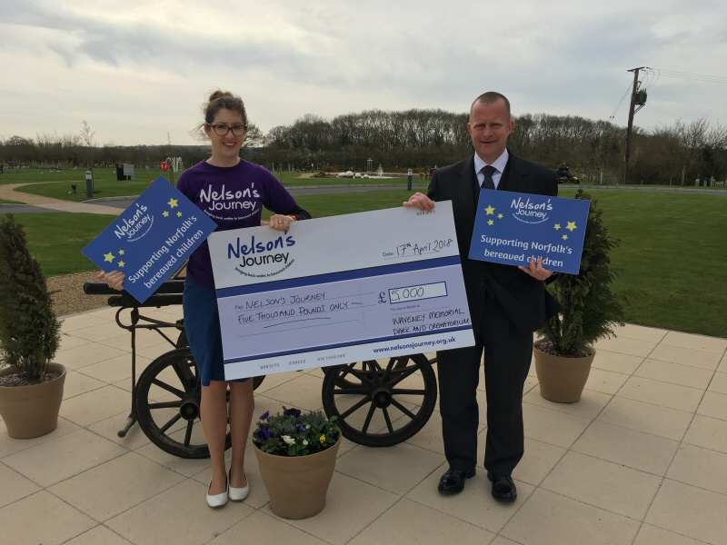 Cheque Presentation - Nelsons Journey April 2018